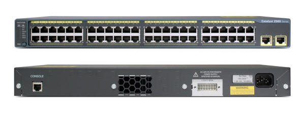 Cisco Catalyst 2960-48TT-L Switch Front and Back