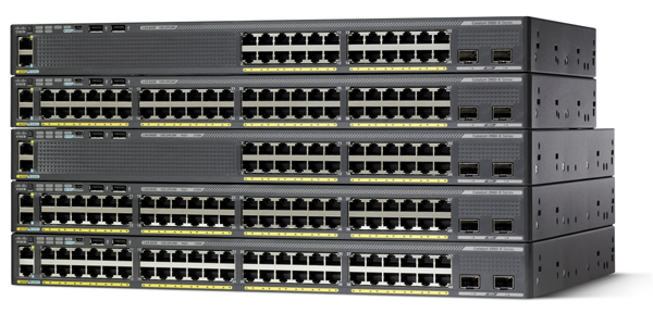 Cisco Catalyst 2960X Series Switch with Two SFP+ Uplink Interfaces