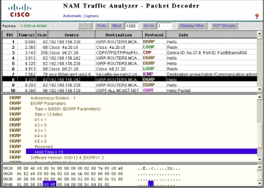 Capturing and Decoding Packets with Cisco NAM