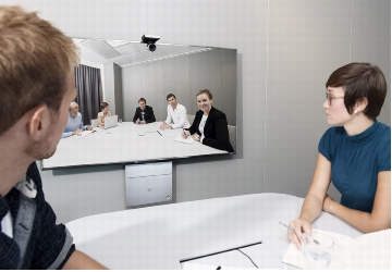 Figure 1. Cisco TelePresence SX20 Quick Set in a Small Meeting Room Environment